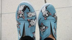 Chi's Sweet Home , custom shoes by Annatarhouse