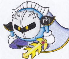 :Meta Knight: by RoseBereArtist