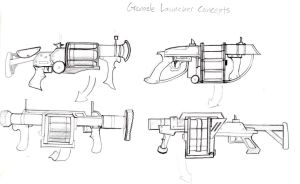 Some more weapon concepts by JakeLuden