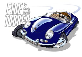 Porsche 356 speedster by FineTooned