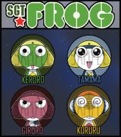 Sgt.Frog / Keroro Badges by kappapillon