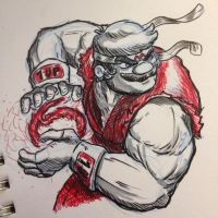 Super Mario X Street Fighter - Maryu by Star-Wizard