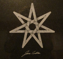Engraved seven pointed impossible star by TheCelticPoet