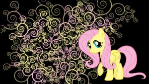 Fluttershy wallpaper by Coall