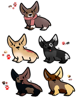 More Corgi Adopts - Gone by Feralx1
