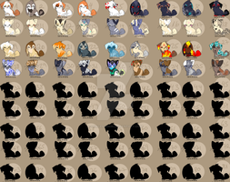 Mega Sheet Adoptables - OPEN by BarkinWeasel