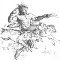 Wolverine pack sketch by Eric Meador by Meador