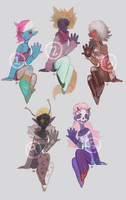 Monster babes (closed - one left) by gawki