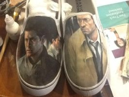 I made Destiel shoes. by Patatat