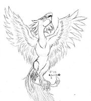 Phoenix - Uncolored by Fennic
