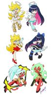 Panty and Stocking Sticker Set by chibi-jen-hen
