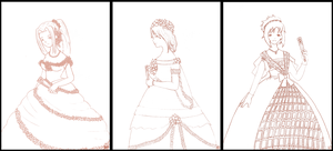 All Dressed Up Line Art by kt-chan