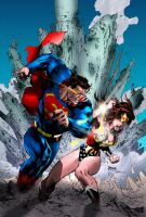 Superman 211 cover colored by eHillustrations