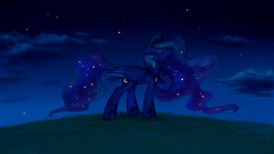 Singing Luna by DragonAtaxia