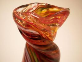 Fiery Vortex Vase 4 by KimsButterflyGarden