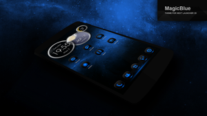 Next Launcher Theme MagicBlue by Karsakoff