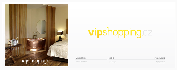 VIP Shopping logotype by porcelainkid
