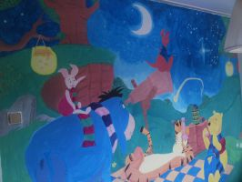 Wall painting winnie the pooh by SsBrownie