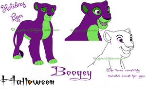 Holiday Lion: Halloween: Boogey :D by LegolasGoldy