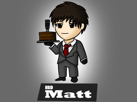 Happy Eaaaaaarly B-day to Matt by Samuraiflame
