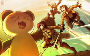 ATTACK ON SKYTAN by rienlen