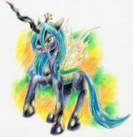Queen Chrysalis by Yuzumiso