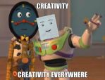 Creativity is Everywhere by PaigeTheNotepad