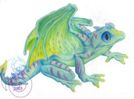 Dragon frog by cryztaldreamz
