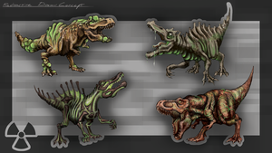 COW#335 Radioactive Dinosaur by Kritzlof