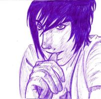 L ryuzaki Death note portrait mangatise by yvelise
