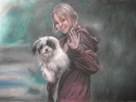 Pastel of Bridge to Terabithia by fantafiction