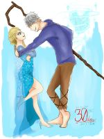 30 DAYS WITH JELSA - DAY 2 Talking Together by devilCiel-Chan