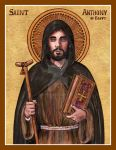 St. Anthony of Egypt icon by Theophilia