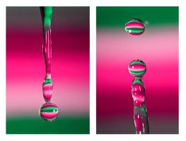 rainbow water drops. by DECHA