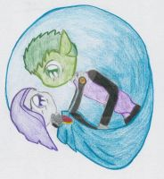 Beast boy and Raven by BBsgrl