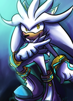 Silver the hedgehog by Zubwayori