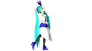 MMD DT TYPE 2020 Miku full view by willianbrasil