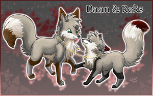 Vaan and Reks as foxes by Pharaonenfuchs