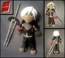Fenris--Dragon Age 2 with Sword and Book by Threnodi
