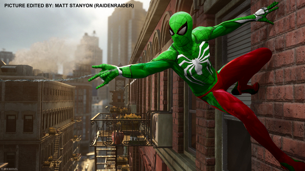 Spider-Man PS4 - Fan Poster (The Hulk Suit) by RaidenRaider
