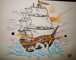 Ship Tattoo Design 2 by itchysack