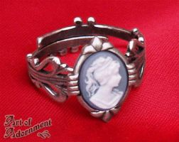 Art Deco Cameo Ring by ArtOfAdornment