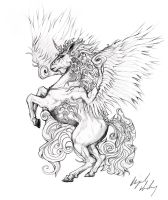 Tattoo Design : Unicorn by Abz-J-Harding