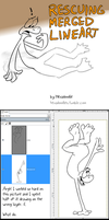 Tutorial - Rescuing merged lineart by Hexaditidom