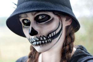 Skeleton face paint. by MaliciousBunny