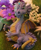 polymer clay dragon china by crazylittlecritters