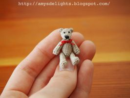 Miniature Crochet Teddy Bear by craftersdelights
