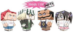 THE URAHARAS SHOP by animepapertoys