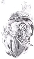 Samurai Tattoo Design by BiggCaZ