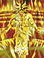 Yellow flame Broly by animeguy654